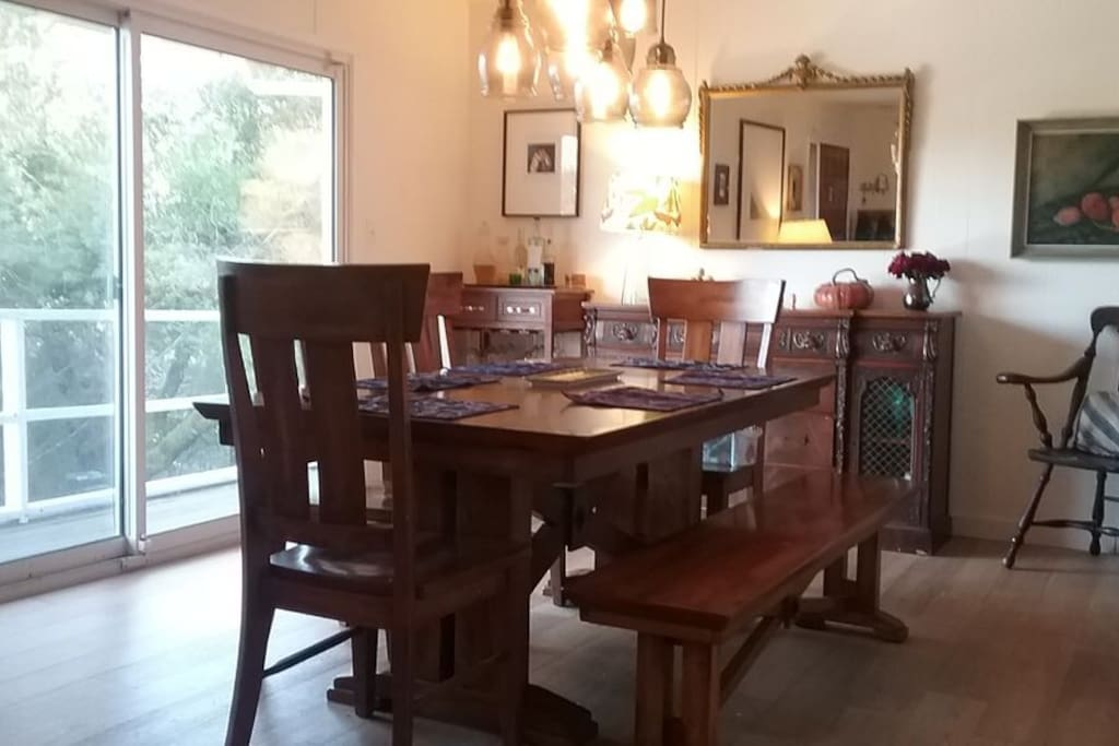 Dining Room with view of hills