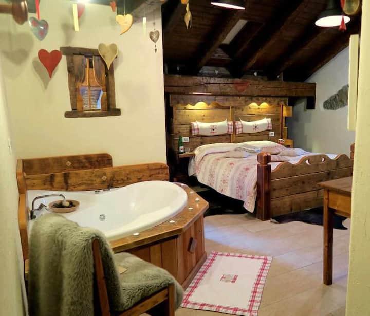 Romantica suite con vasca idromassaggio