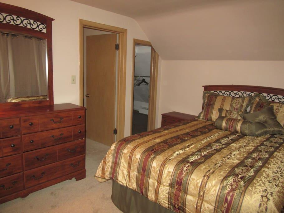 Front bedroom with walk-in closet