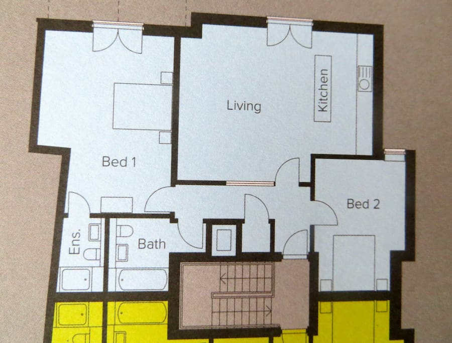 Floor Plan - all 4 beds are SINGLE.