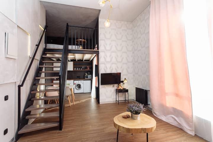Лофт -апартаменты с террасой (Олимпийский парк)