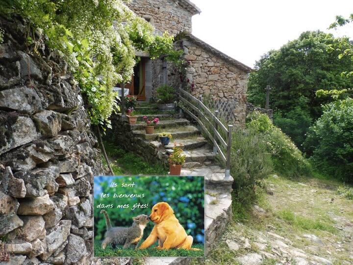 Maison dans un hameau isolé en pierres