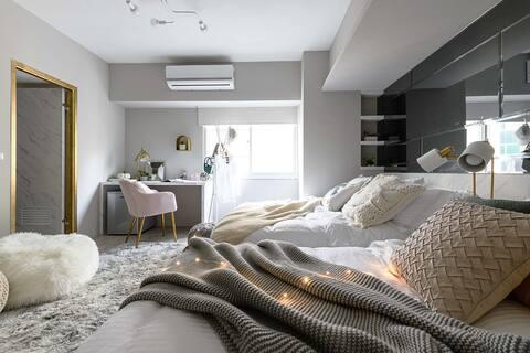 Stay&Gold-Room: E/MRT Zhongshan/Toilet/2 Beds/3pax