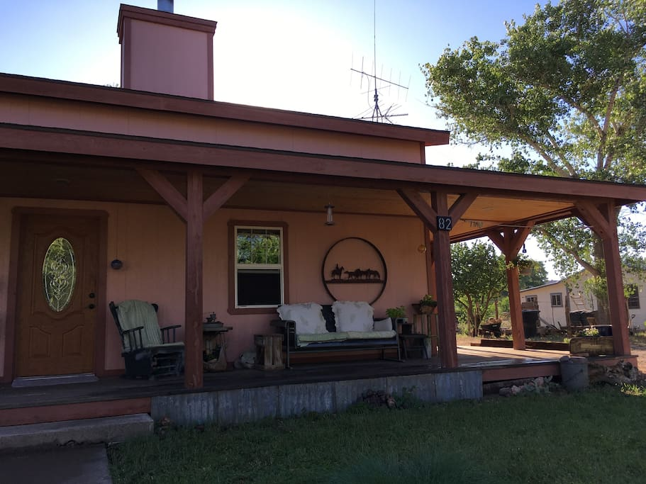 Front porch and glider
