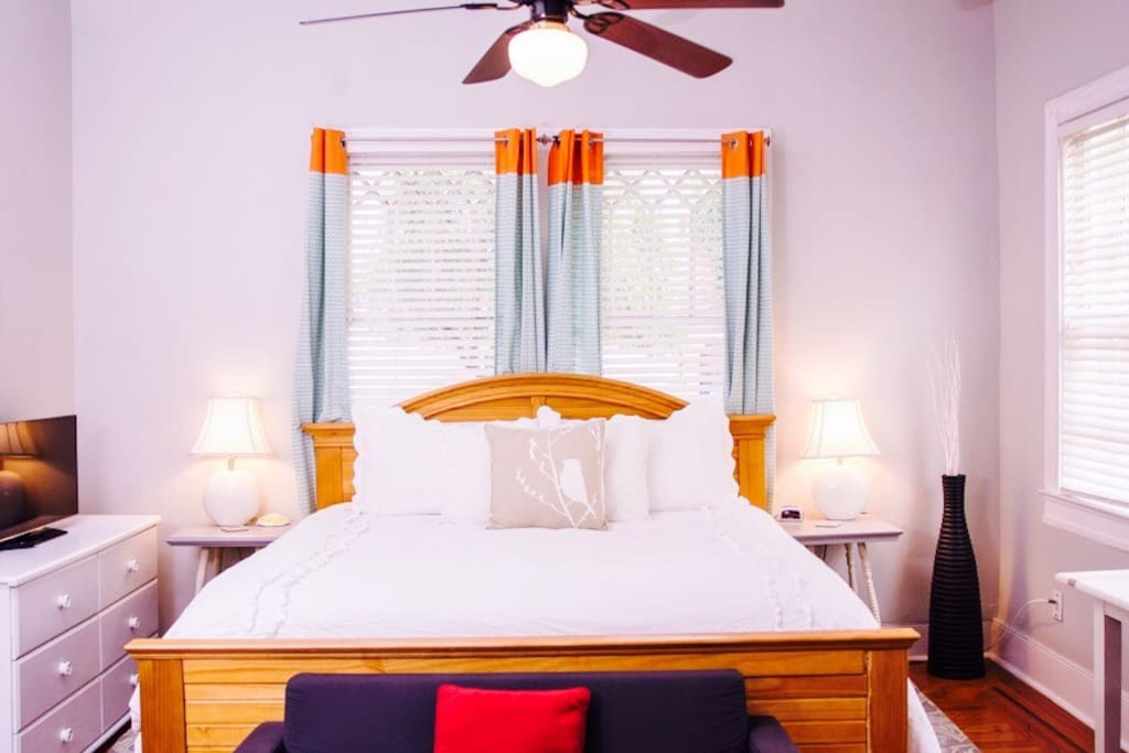 this is the master bedroom with big king sized bed!