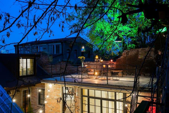 Bohemian Cottage w Rooftop Terrace &Courtyard Dwtn
