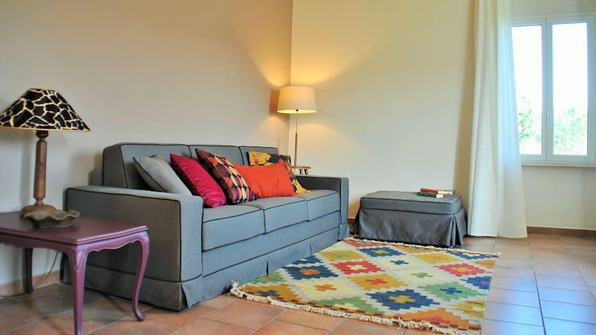 La sala con il divano letto
