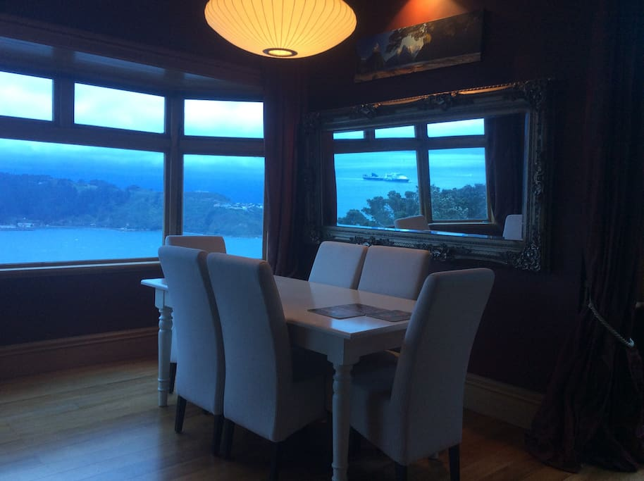 Dinning room with sea views