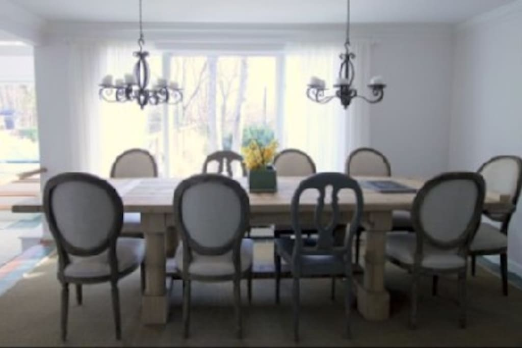 Dining table seats 10+