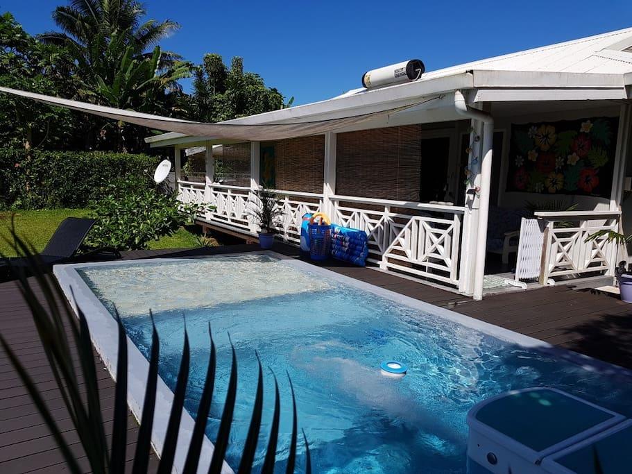 Fare julie piscine privative maisons louer taravao for Piscine privative
