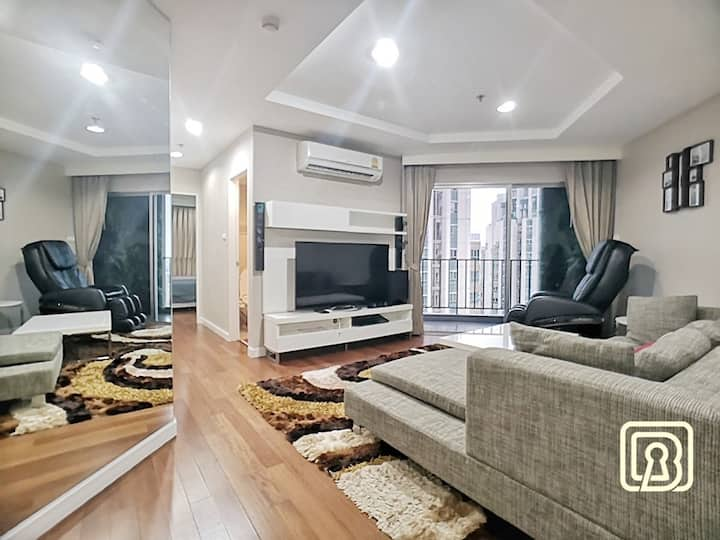 GLOSSY LUXURY SUITE :2BR:2WC /HIGH FLOOR/WIFI/MRT