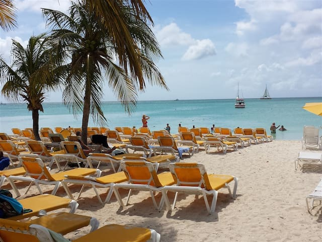 Moomba Beach.. where every guest receives free beach access & a free chaise lounge for your entire stay.