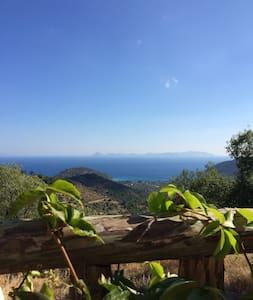Mountain cottage with wide ocean view - Mesudiye Köyü - บ้าน