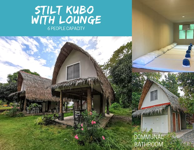 Balanghai Katadman - Stilt Kubo with lounge