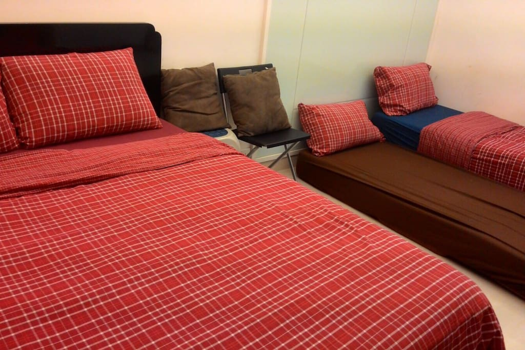 Double bed and sofa beds