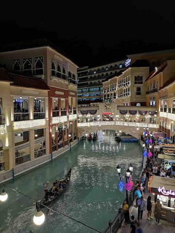 Venice Grand Canal Mall is just down the street