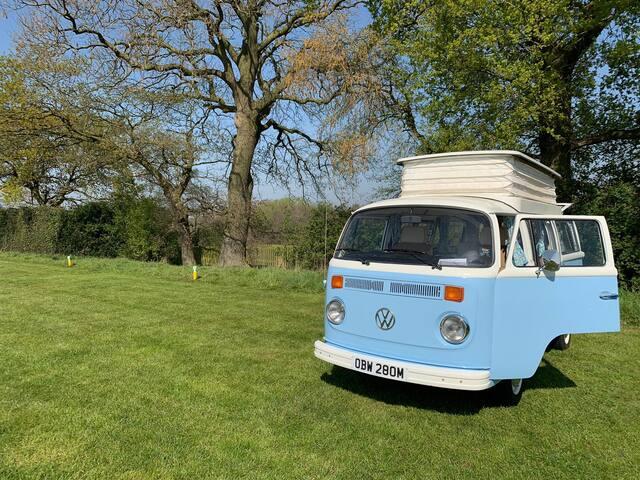 Bertie, our 1973 Volkswagen T2 Baywindow Campervan