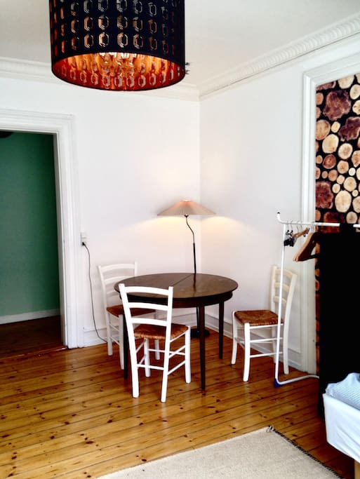 The room - dining table