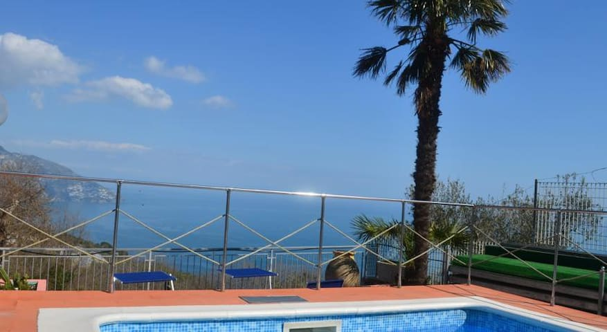 Private pool and view of the coast - Piano di Sorrento - Villa