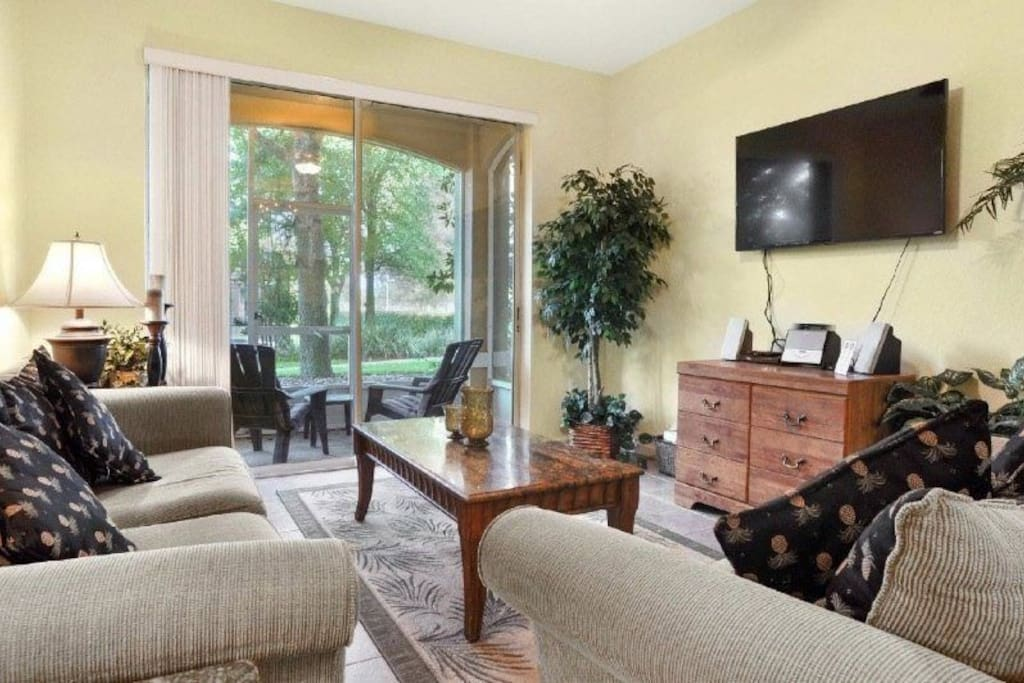 Large living area with  Smart TV