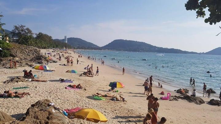 ♫ B Cheap standard room˘◡˘patong beach 8min walk ♫