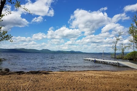 90 ft of beach on the Great Sacandaga Lake