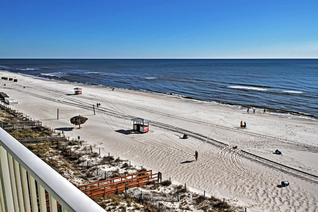 This outstanding Panama City Beach vacation rental condo is literally steps from the beach!
