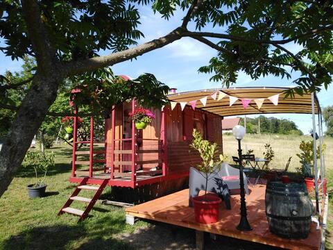 Roulotte climatisée près du parc Le Pal