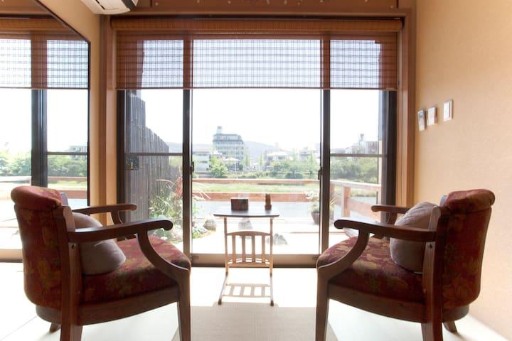 Traditional house & Riverside terrace in down town - Kyōto-shi - Casa
