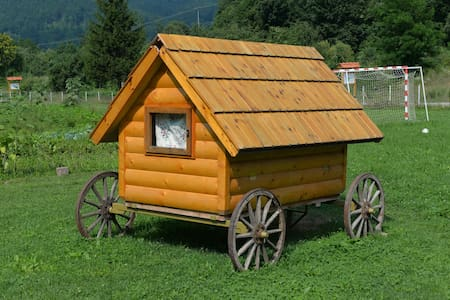 Tiny cabin on wheels