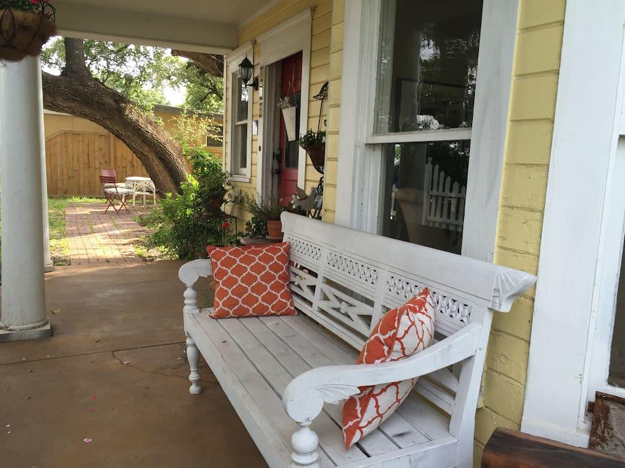 Enjoy the forgotten art of porch sitting here.