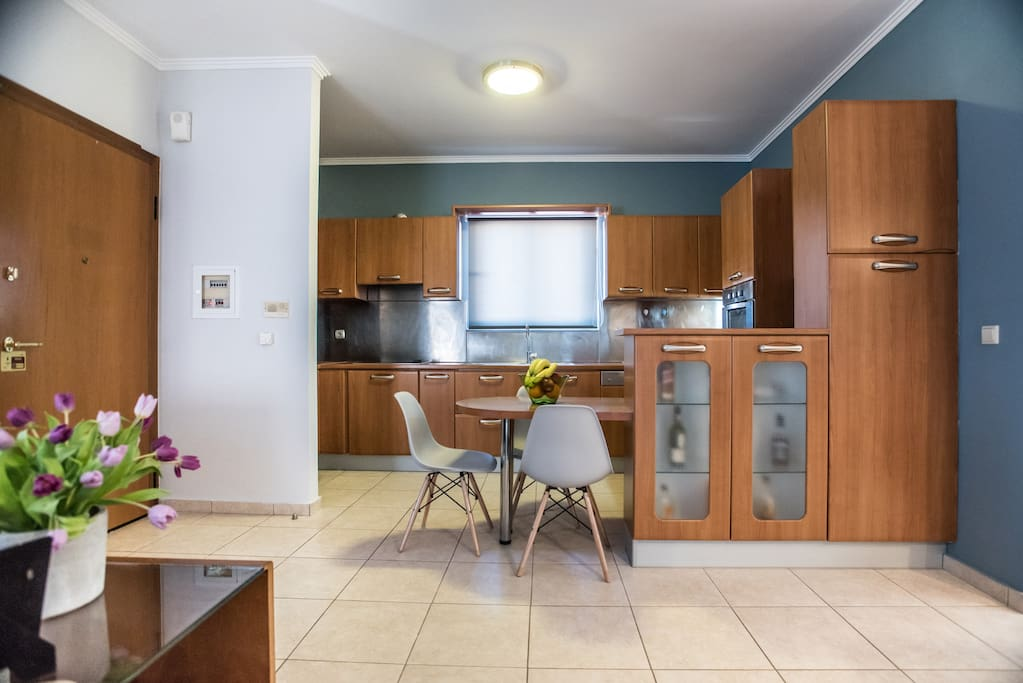 The kitchen is spacious and offers everything you may need to prepare delicious meals.