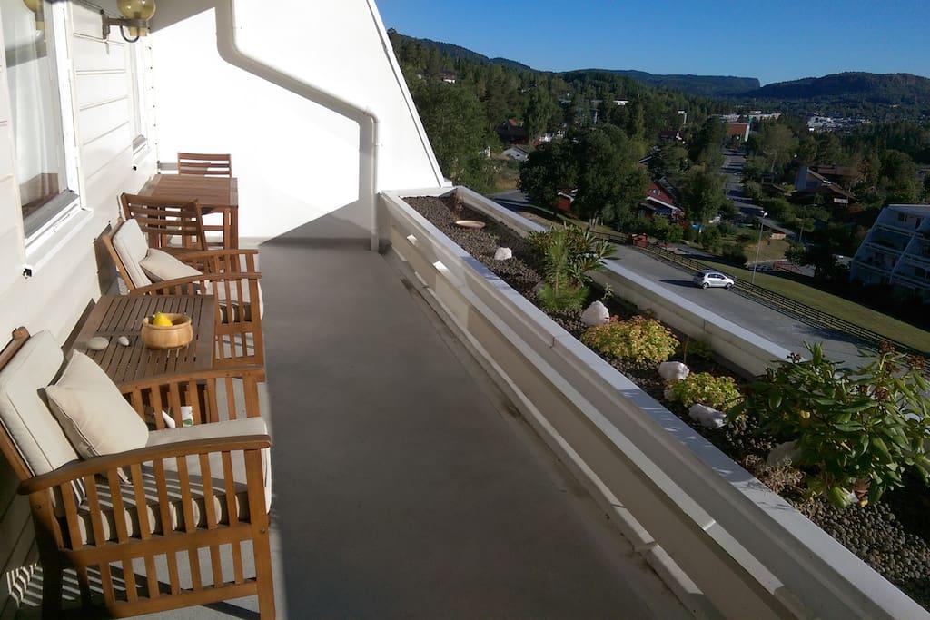 Eastside balcony.