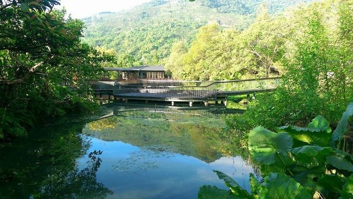 伊利信四人房-欣綠石頭屋-花蓮光復生態農園,免費夜觀導覽