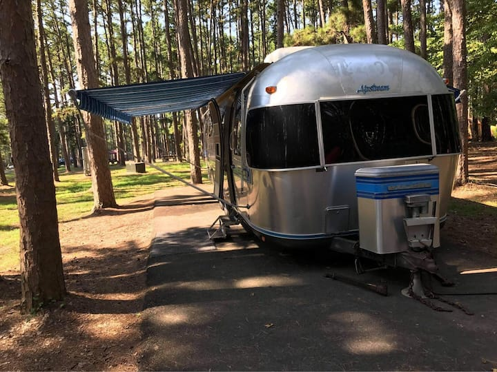 Airstream delivery and pickup camping
