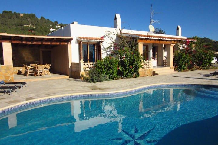 Spanish villa with stunning views near Es Cubells and Cala d'Hort