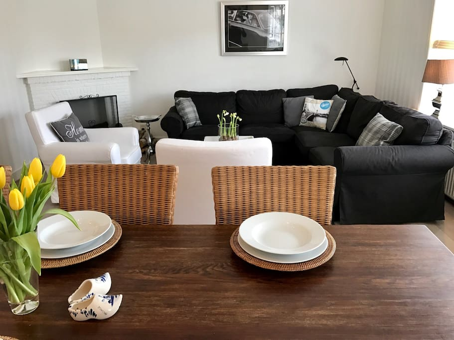 A view in the living-dining.