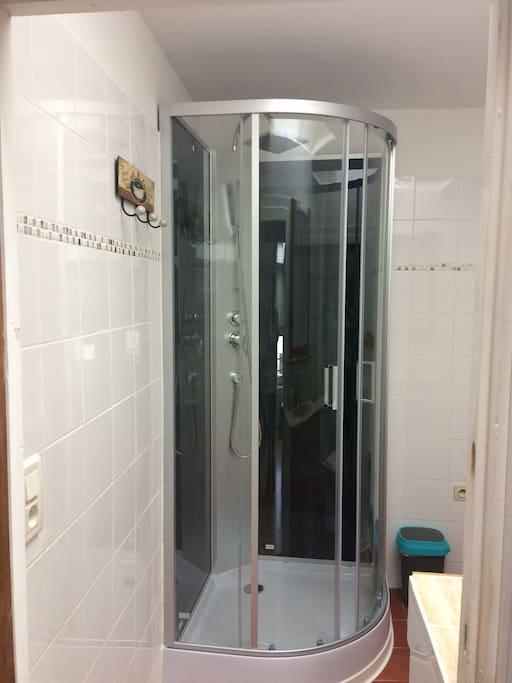 La douche de la salle de bain