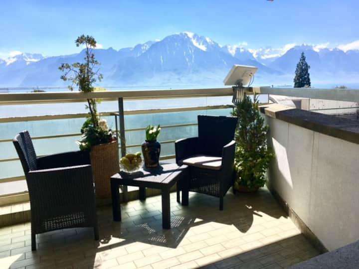 Amazing lakeviw-mountain, centre, modern, balcony
