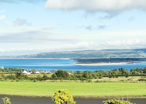 Relax in a large home with beautiful lough views