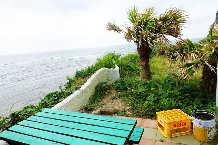 03★④オーシャンフロントヴィラ岩船/ミニハウス【持込BBQコンロOK】目の前に海が広がります!!