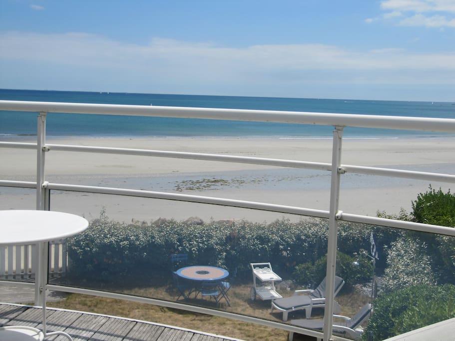 la plage  vue du balcon