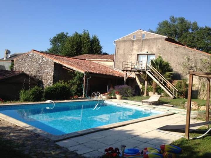 House with 2 bedrooms in Massaguel, with shared pool, enclosed garden and WiFi