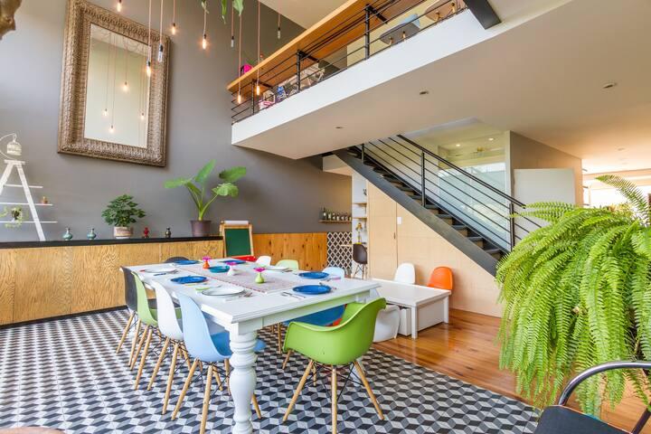 New Incredible apart design 2 floor Santa Fe cozy