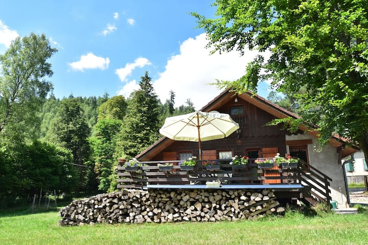 Cosy, detached chalet in lush valley with mountain stream 50 metres away