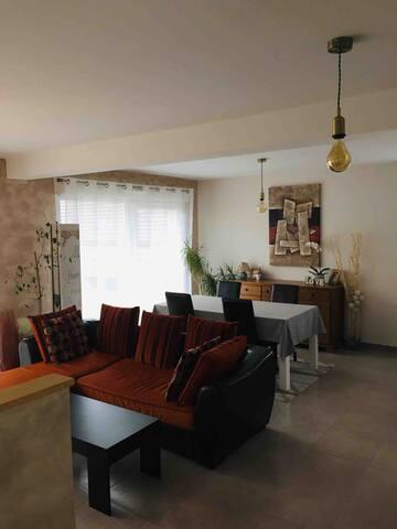 Maison entre Obernai et Strasbourg 5/6 voyageurs