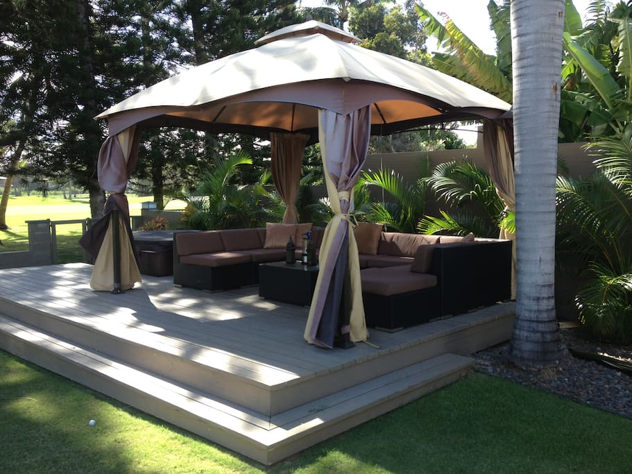 The gazebo area is a lovely spot in the afternoon or evening in the nice breeze.