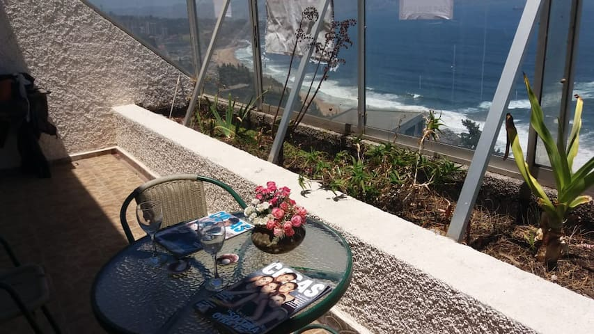 Departamento Reñaca, Las Agatas, Vista al Mar
