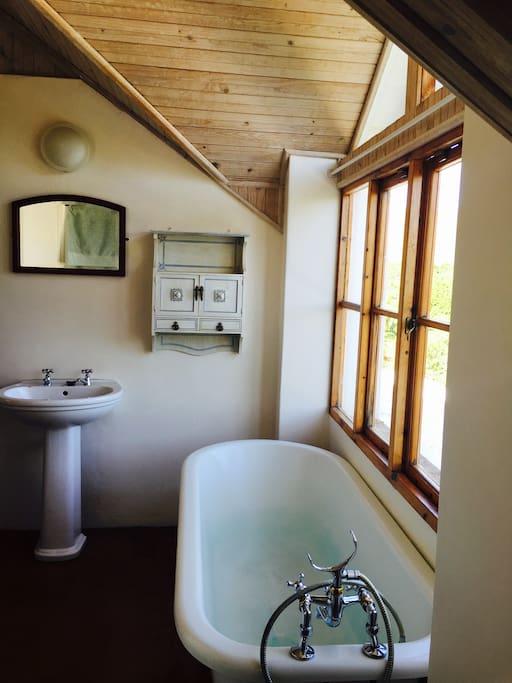 Bathroom with stunning views.