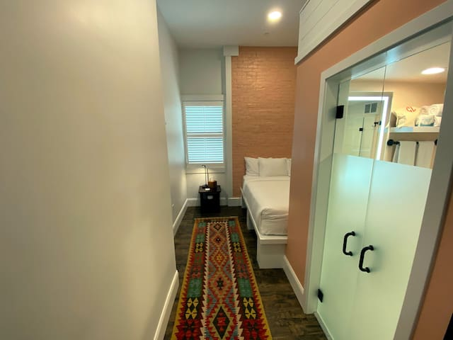 1 King, 1 Full loft, new downtown boutique hotel